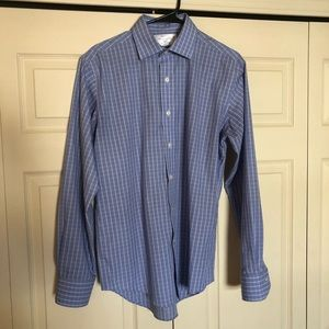 Other - Blue Check Button Down Dress Shirt